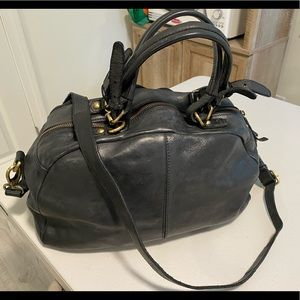 Black Valentina genuine leather purse
